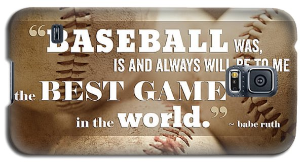 Baseball Print With Babe Ruth Quotation Galaxy S5 Case