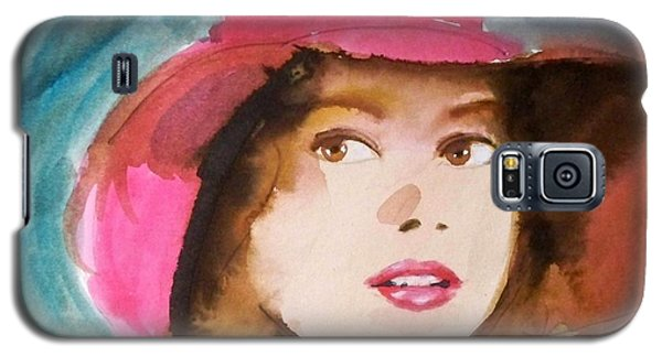 Galaxy S5 Case featuring the painting Basia by Ed  Heaton