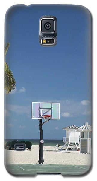 Basketball Goal On The Beach Galaxy S5 Case