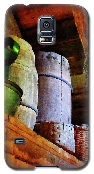 Galaxy S5 Case featuring the photograph Baskets And Barrels In Attic by Susan Savad
