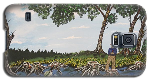 Bass Fishing In The Stumps Galaxy S5 Case