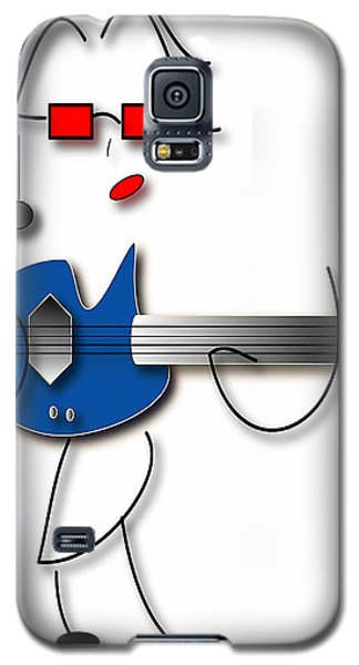 Galaxy S5 Case featuring the digital art Bass Guitar Girl by Marvin Blaine