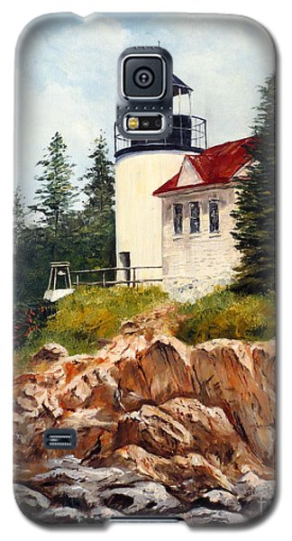 Galaxy S5 Case featuring the painting Bass Harbor Head Light by Lee Piper