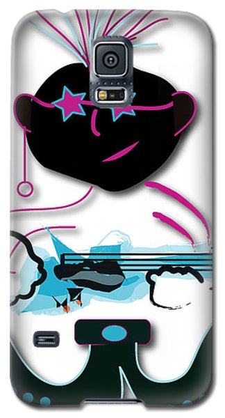 Galaxy S5 Case featuring the digital art Bass Man by Marvin Blaine