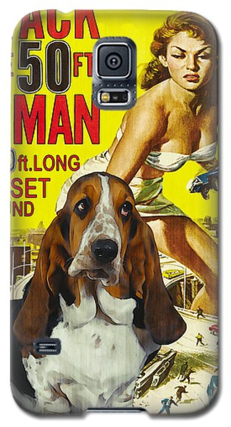 Basset Hound Art Canvas Print - Attack Of The 50ft Woman Movie Poster Galaxy S5 Case