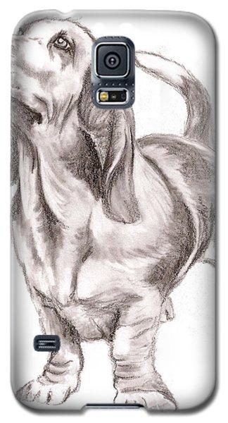 Basset Hound Dog Galaxy S5 Case by Nan Wright
