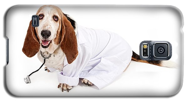 Basset Hound Dressed As A Veterinarian Galaxy S5 Case