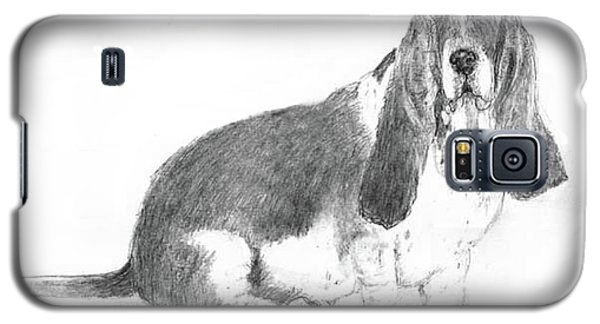 Galaxy S5 Case featuring the drawing Basset Hound by Jim Hubbard