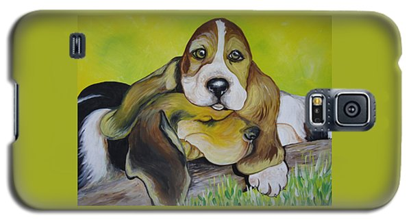 Bassett Hound Pups Galaxy S5 Case