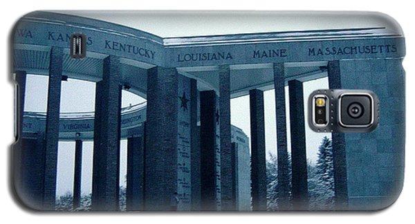 Galaxy S5 Case featuring the photograph Bastogne Liberation Memorial by Deborah Smolinske
