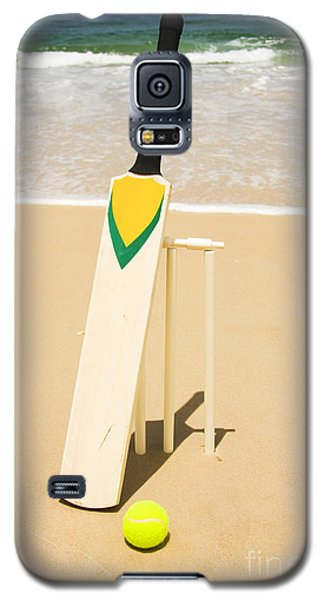 Bat Ball And Stumps Galaxy S5 Case by Jorgo Photography - Wall Art Gallery