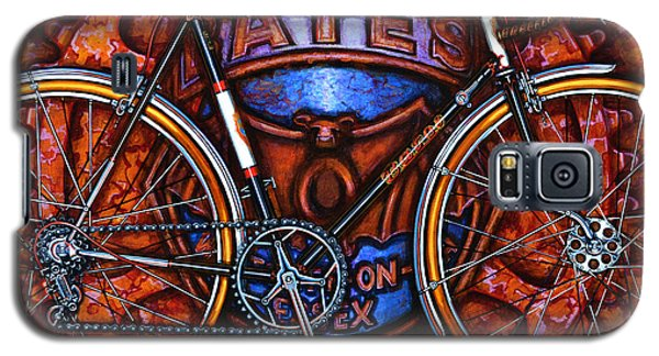 Galaxy S5 Case featuring the painting Bates Bicycle by Mark Howard Jones
