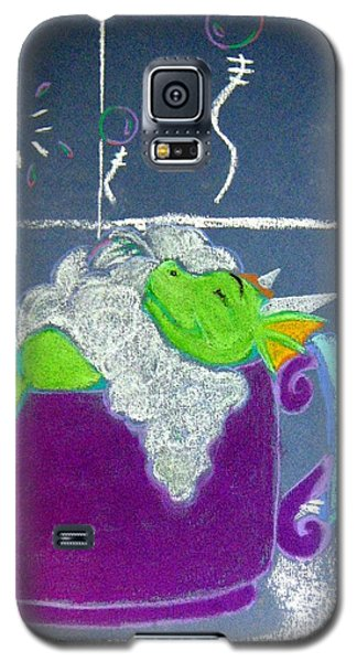 Galaxy S5 Case featuring the pastel Bath Time by Wendy Coulson