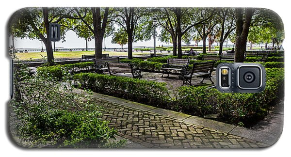 Galaxy S5 Case featuring the photograph Battery Park by Sennie Pierson