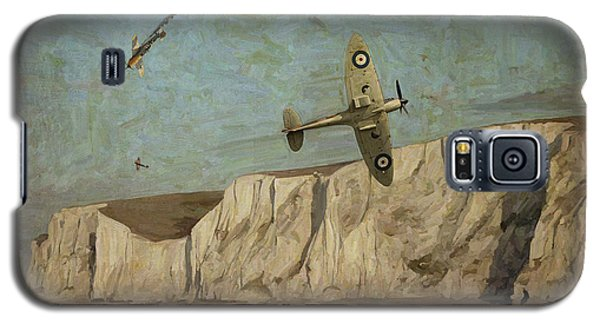 Galaxy S5 Case featuring the painting Battle Of Britain Over Dover by Nop Briex