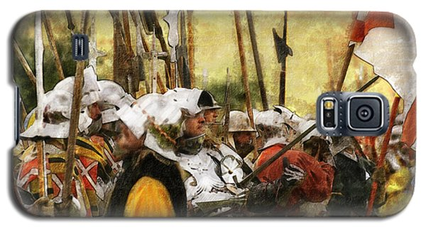 Galaxy S5 Case featuring the digital art Battle Of Tewkesbury by Ron Harpham
