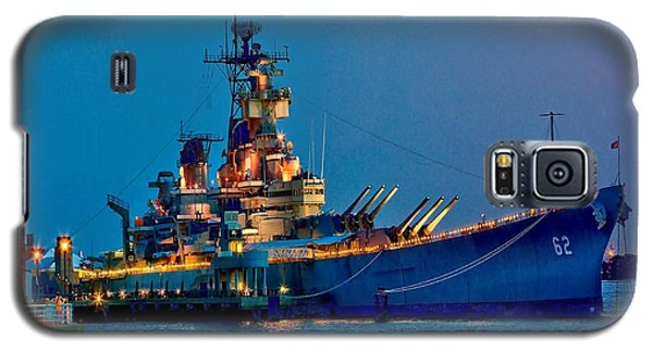 Battleship New Jersey At Night Galaxy S5 Case