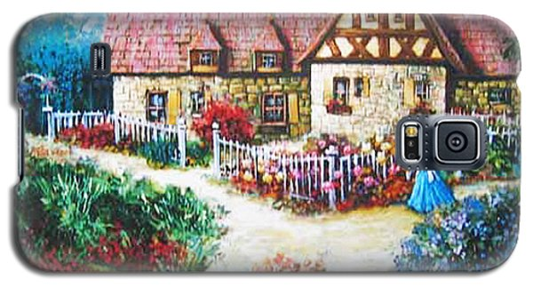 Galaxy S5 Case featuring the painting Bavarian Cottage by Cheryl Del Toro