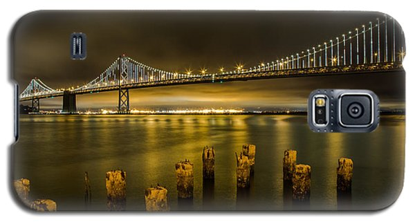 Bay Bridge And Clouds At Night Galaxy S5 Case