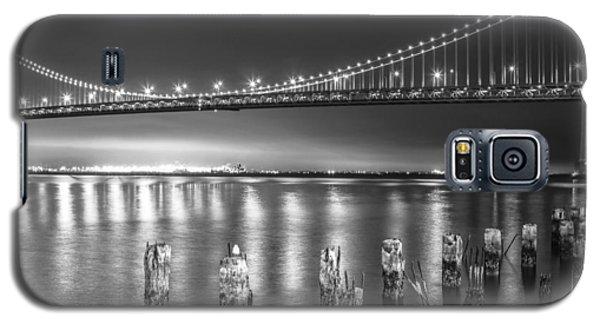 Bay Bridge Black And White Galaxy S5 Case by Robert  Aycock