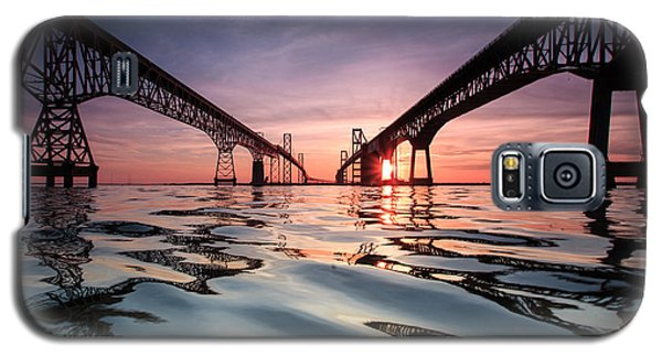 Sunset Galaxy S5 Case - Bay Bridge Reflections by Jennifer Casey