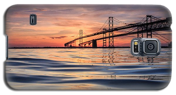 Galaxy S5 Case featuring the photograph Bay Bridge Silk by Jennifer Casey