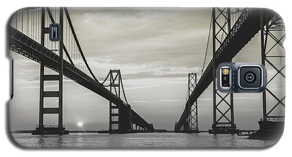 Galaxy S5 Case featuring the photograph Bay Bridge Strong by Jennifer Casey