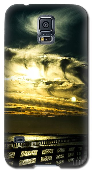 Galaxy S5 Case featuring the photograph Bay Bridge Sunset by Angela DeFrias