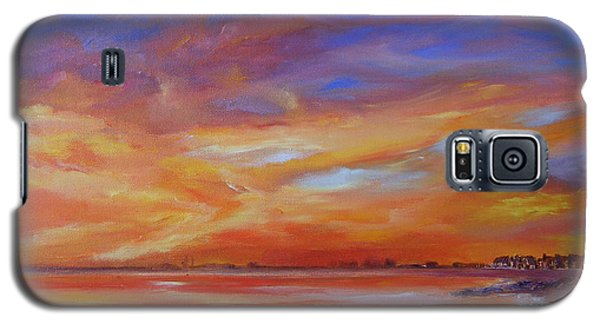 Bay Of Hythe On Fire Galaxy S5 Case