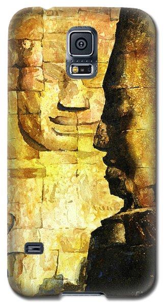Bayon Khmer Temple At Angkor Wat Cambodia Galaxy S5 Case