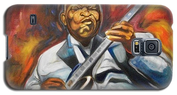 Galaxy S5 Case featuring the painting B.b King- 2 by Emery Franklin