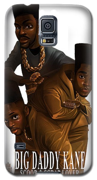 Galaxy S5 Case featuring the drawing Bdk White Bg by Nelson Dedos Garcia