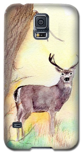 Galaxy S5 Case featuring the painting Be A Dear by C Sitton