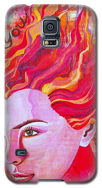 Galaxy S5 Case featuring the painting Be Bold Be You by Julie  Hoyle