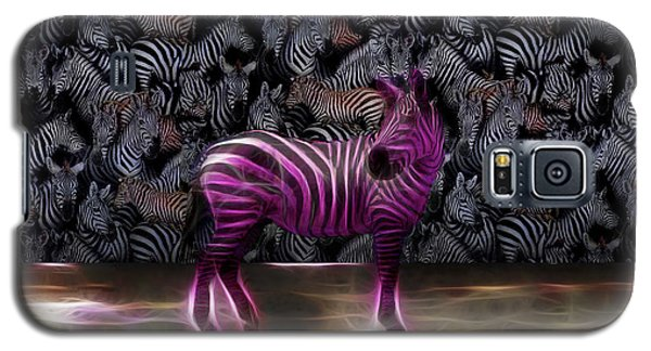 Be Courageous - Be Different - Zebra Galaxy S5 Case
