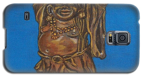 Galaxy S5 Case featuring the painting Be Happy by Linda Prewer