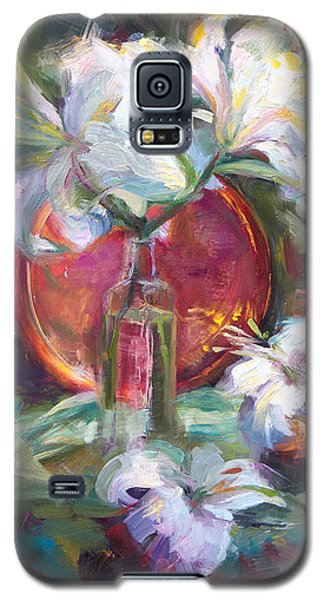 Be Still - Casablanca Lilies With Copper Galaxy S5 Case