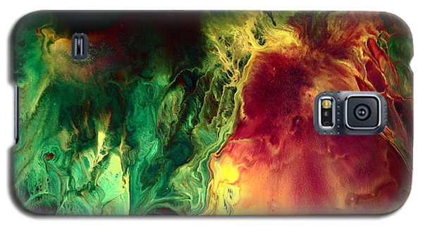 Be Together - Red Green Abstract Art By Kredart Galaxy S5 Case