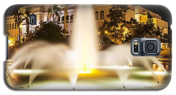 Bea Evenson Fountain At Night Galaxy S5 Case