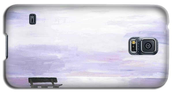 Galaxy S5 Case featuring the painting Beach At Cape Cod by Artists With Autism Inc