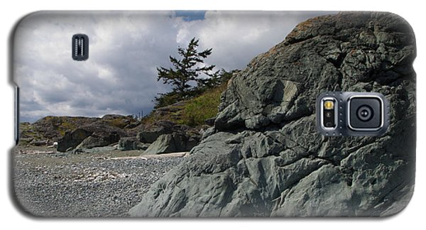 Beach At Fort Rodd Hill Galaxy S5 Case by Marilyn Wilson