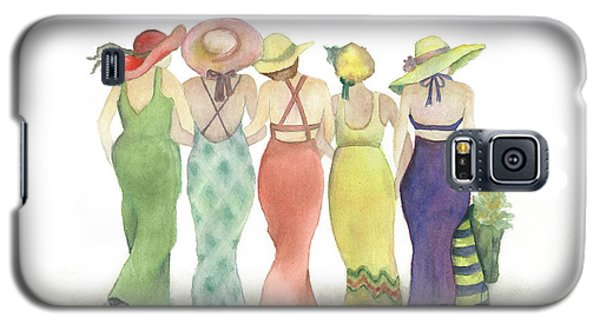 Beach Babes In Coverups And Hats Ready For A Day In The Sun Galaxy S5 Case by Nan Wright