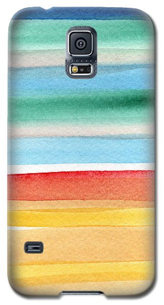 Beach Blanket- Colorful Abstract Painting Galaxy S5 Case