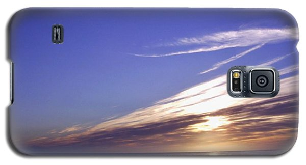 Beach Blue Sunset Galaxy S5 Case