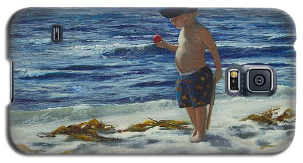 Galaxy S5 Case featuring the painting Beach Boy by Jeanette French