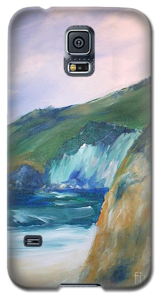 Galaxy S5 Case featuring the painting Beach California by Eric  Schiabor