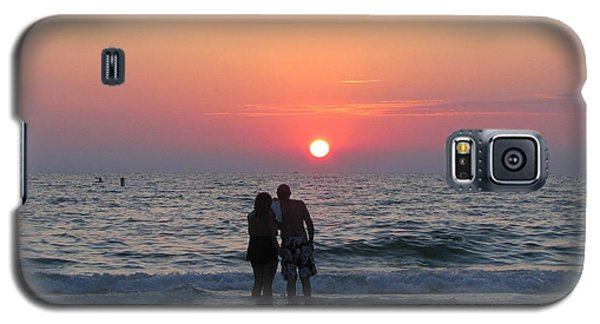 Beach Couple Clearwater Sunset Galaxy S5 Case