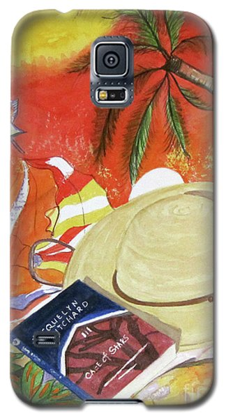 Galaxy S5 Case featuring the painting Beach Day by Carol Flagg