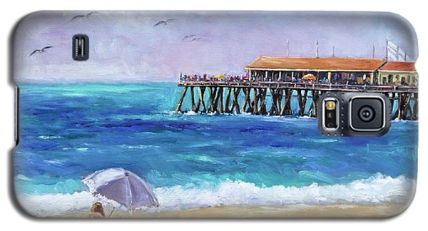 Galaxy S5 Case featuring the painting Beach Day by Jennifer Beaudet