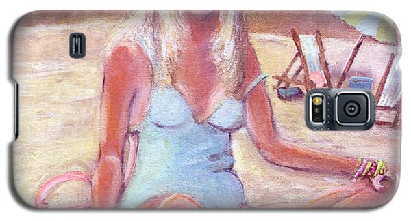 Galaxy S5 Case featuring the painting Beach Day by Rita Brown